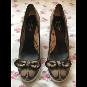 """Preowned Coach Signature """"Sweetie"""" Wedge Heels"""